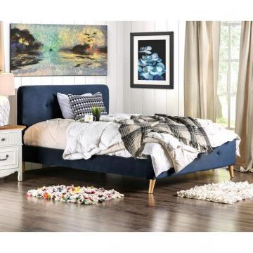 Furniture of America Celene Mid-century Modern Tufted Full Bed