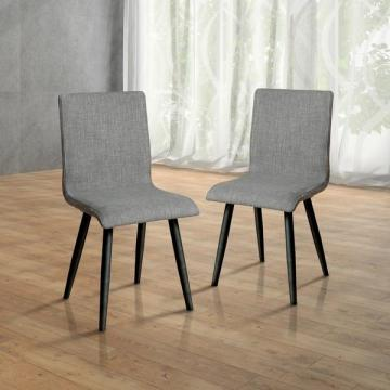 Furniture of America Bradensbrook Grey Upholstered Side Chair (Set of 2)