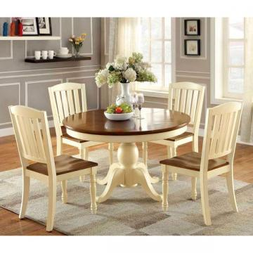 Furniture of America Bethannie 5-Piece Cottage Style Oval Dining Set