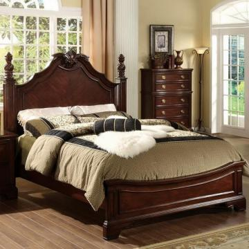 Furniture of America Ambrosio Formal Dark Cherry Bed
