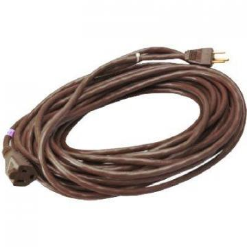 Master Electrician Extension Cord, 16/3 SJTW Round Vinyl Brown,  40 Foot