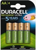 Duracell Recharge Ultra AA Batteries with DuraLock 2400mAh 4 Pack