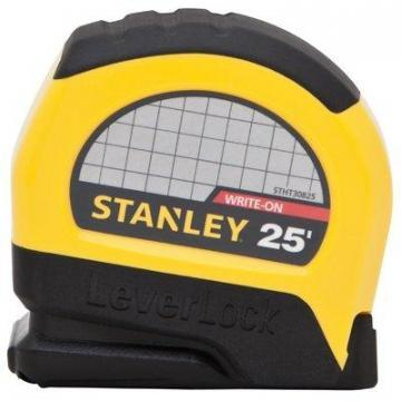 Stanley Leverlock Tape Measure, 25-Ft.