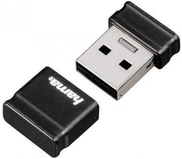 Hama 8GB Smartly Compact USB 2.0 Flash Drive - 10 MB/s, Black