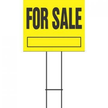 "Hy-Ko Sign, ""For Sale"", Yellow & Black Plastic, 20x24"""