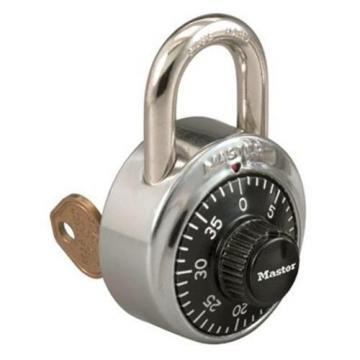 "Master Lock Combination Padlock Center-Dial Location, 3/4"" Shackle"