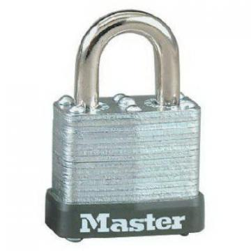 "Master Lock 1-1/8"" Warded Steel Laminated Padlock"