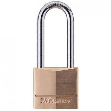 "Master Lock 1-9/16"" Solid-Brass Body 4-Pin Tumbler Padlock"