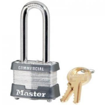 "Master Lock 2"" Long Shackle Laminated Keyed-Alike Padlock"