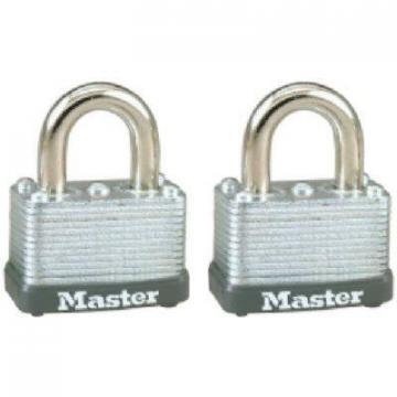 "Master Lock 2-Pack 1-1/2"" Warded Steel Laminated Keyed-Alike Padlock"
