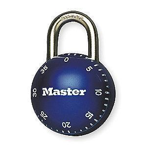 Master Lock Combination Padlock Center-Dial Location, 11/16""