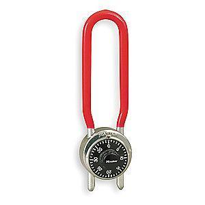 "Master Lock Combination Padlock Center-Dial Location, 4-1/4"" to 4-3/4"""