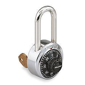 Master Lock Combination Padlock Front-Dial Location, 1-1/2""