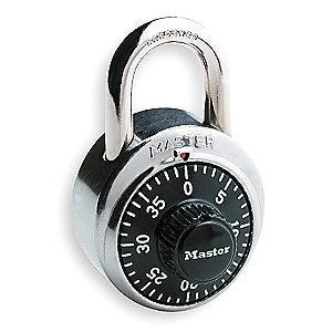 Master Lock Combination Padlock Front-Dial Location, 3/4""