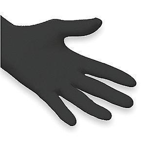 "Microflex 9-1/2"" Unlined Nitrile Disposable Gloves, Black, Size  S, 100PK"