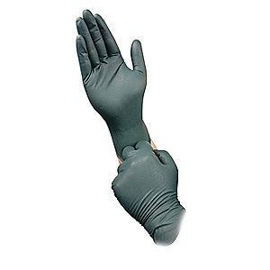 "Microflex 10-1/2"" Flock Nitrile Disposable Gloves, Dark Green, Size  M, 50PK"