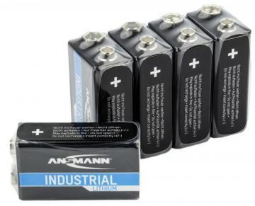 Ansmann 9V Industrial Lithium Batteries 5 Pack