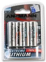 Ansmann AA Extreme Lithium Batteries 4 Pack