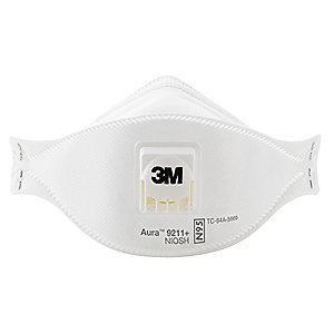 3M N95 Disposable Particulate Respirator, White, Universal, 10PK