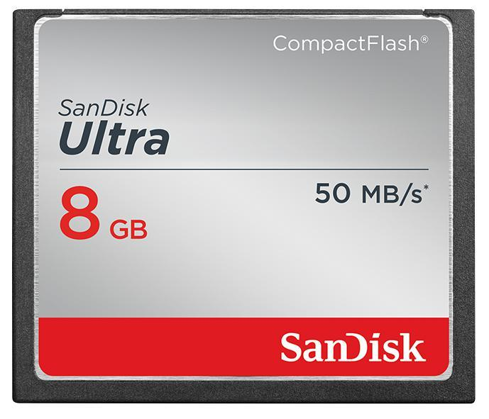 Sandisk 8GB Ultra CompactFlash Memory Card - 50 MB/s