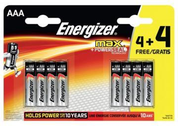 Energizer Retail Packed Max 4+4 Value Pack Alkaline AAA Batteries