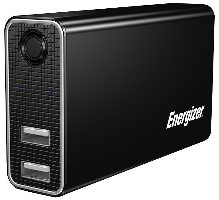 Energizer Dual USB Power Bank Charger 5200mAh Black