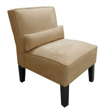 Skyline Furniture Armless Chair in Premier Microsuede, Saddle