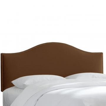 Skyline Furniture Twin Size Upholstered Headboard in Chocolate Microsuede