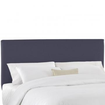 Skyline Furniture Full Slip Cover Headboard in Navy