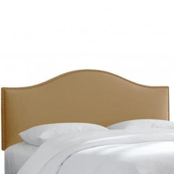 Skyline Furniture Twin Size Upholstered Headboard in Tan Microsuede