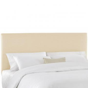 Skyline Furniture King Slip Cover Headboard in Natural