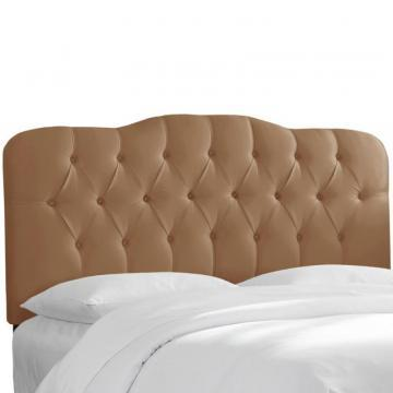 Skyline Furniture Tufted Queen Headboard In Shantung Khaki