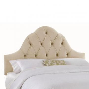 Skyline Furniture Upholstered King Headboard in Velvet Buckwheat