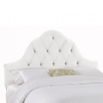 Skyline Furniture Upholstered Queen Headboard in Velvet White