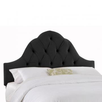 Skyline Furniture Upholstered Full Headboard in Velvet Black