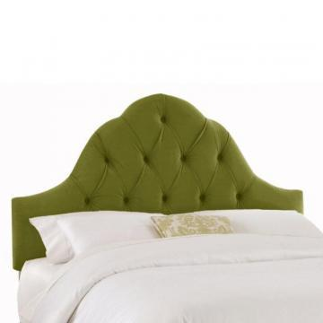 Skyline Furniture Upholstered King Headboard in Velvet Apple Green