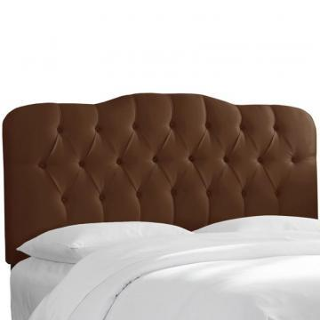 Skyline Furniture Upholstered King Headboard, Shantung, Chocolate