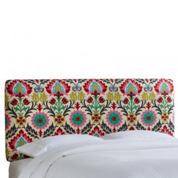 Skyline Furniture King Slipcover Headboard in Santa Maria Desert Flower