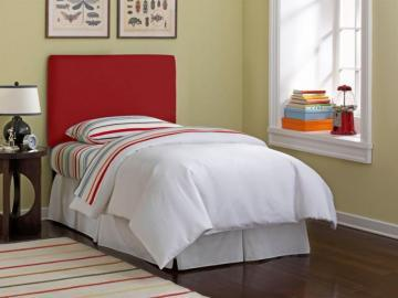 Skyline Furniture Upholstered Kids Twin Headboard In Duck Red