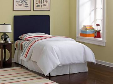 Skyline Furniture Upholstered Kids Twin Headboard In Duck Navy