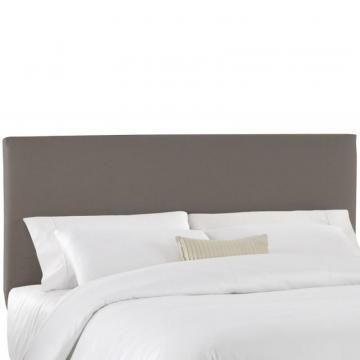 Skyline Furniture Queen Slip Cover Headboard in Grey