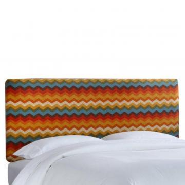 Skyline Furniture King Slipcover Headboard in Panama Wave Adobe