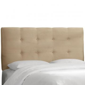 Skyline Furniture Upholstered King Headboard, Premier Microsuede, Oatmeal