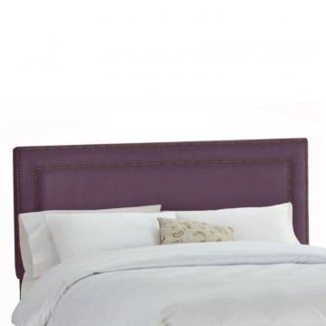 Skyline Furniture Upholstered Full Headboard in Premier Microsuede Purple