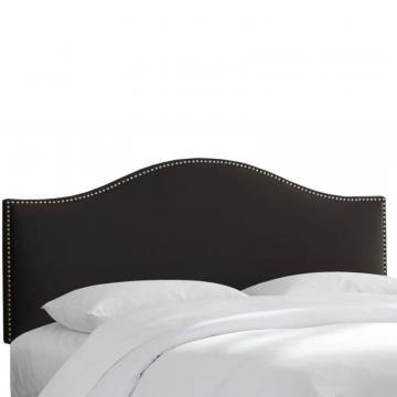 Skyline Furniture Black Twin Size Microsuede Headboard