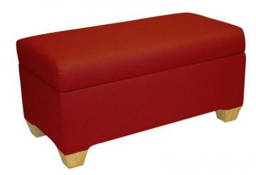 Skyline Furniture Kids Storage Bench In Duck Red