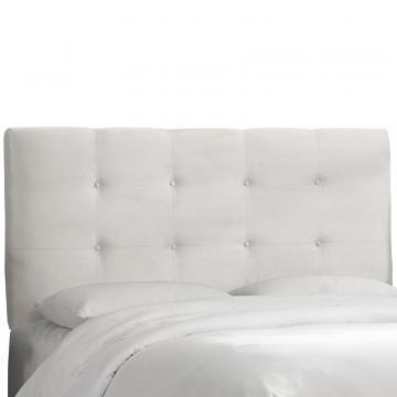 Skyline Furniture Tufted King Headboard In Premier White