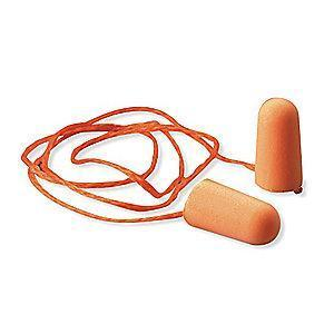 3M 29dB Disposable Tapered-Shape Ear Plugs; Corded, Orange, Universal
