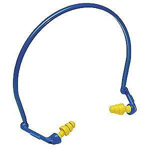 3M 27dB Reusable Flanged-Shape Hearing Band; Banded, Yellow, Universal