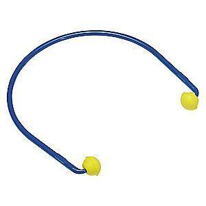 3M 17dB Reusable Pod-Shape Hearing Band; Banded, Yellow, Universal